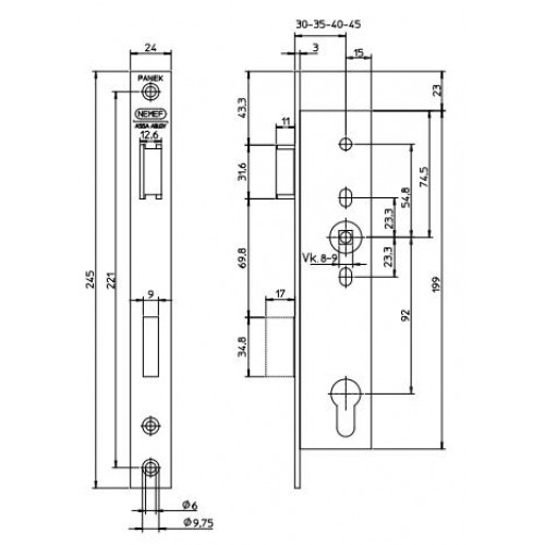 Nemef 9670 Series Heavy Duty Narrow Stile Split Follower