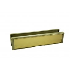 POST PORT LETTER PLATE 40-80 - GOLD FRAME & P.GOLD FLAP